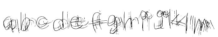 Messy Marvin Regular Font LOWERCASE