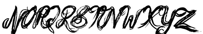 Messy Script Font UPPERCASE