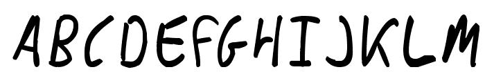 Messy_Ben Font UPPERCASE