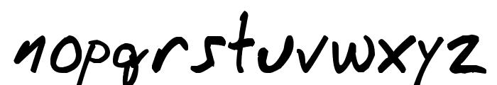 Messy_Ben Font LOWERCASE