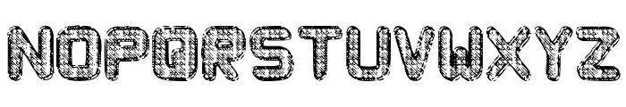 Metal Curvy Font UPPERCASE