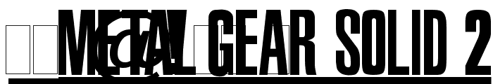 Metal Gear Solid 2 Font OTHER CHARS