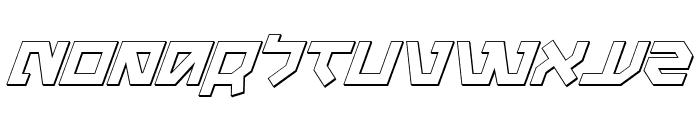 Metal Storm 3D Italic Font UPPERCASE