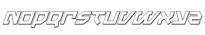 Metal Storm 3D Italic Font LOWERCASE