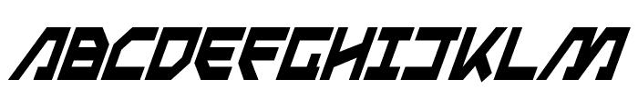 Metal Storm Condensed Italic Font UPPERCASE