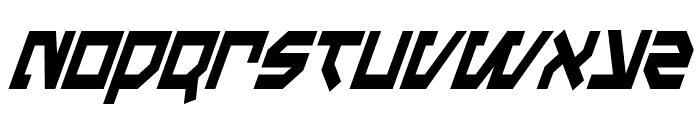 Metal Storm Condensed Italic Font LOWERCASE