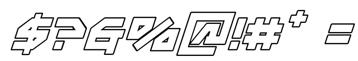 Metal Storm Outline Italic Font OTHER CHARS