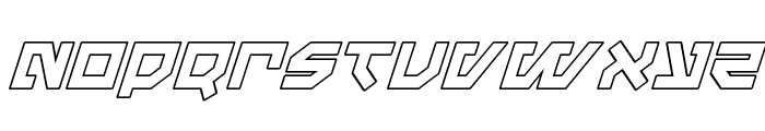 Metal Storm Outline Italic Font LOWERCASE