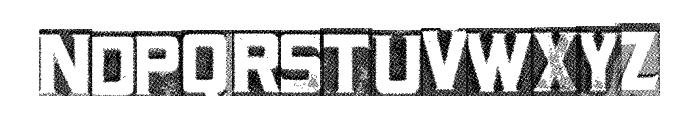 MetalBlockTwo Font LOWERCASE