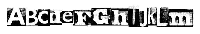 MetalBlockZero Font LOWERCASE