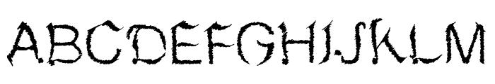 MetalSketchveticaRegular Font UPPERCASE