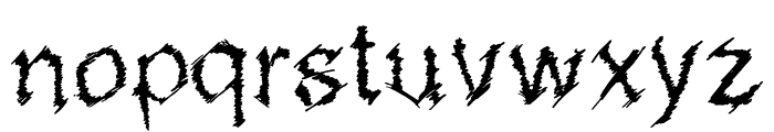 MetalSketchveticaRegular Font LOWERCASE
