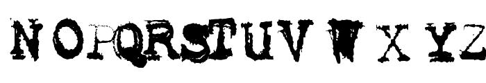 Metalic Avacodo Font UPPERCASE