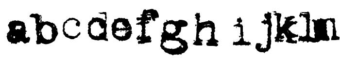 Metalic Avacodo Font LOWERCASE