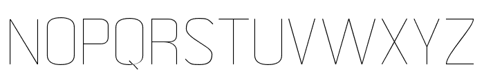 MetricNavy Thin Font UPPERCASE