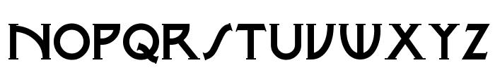 Metro Modern Font UPPERCASE