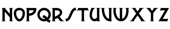 Metro Modern Font LOWERCASE