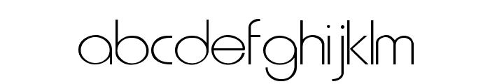 Metro Normal Font LOWERCASE
