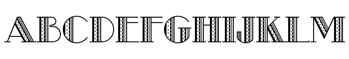 Metro-Retro A Font UPPERCASE