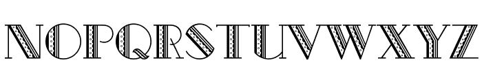 Metro-Retro A Font LOWERCASE