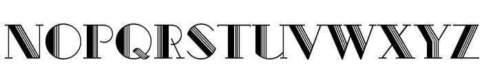 Metro-Retro C Font UPPERCASE