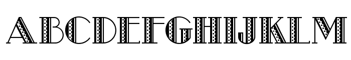 Metro Retro NF Font UPPERCASE