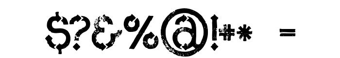 MetroGrunge Font OTHER CHARS