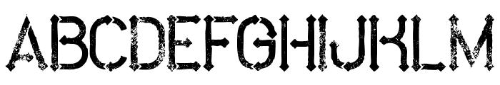 MetroGrunge Font UPPERCASE