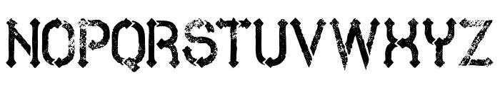 MetroGrunge Font LOWERCASE