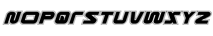 Metronauts Academy Italic Font UPPERCASE