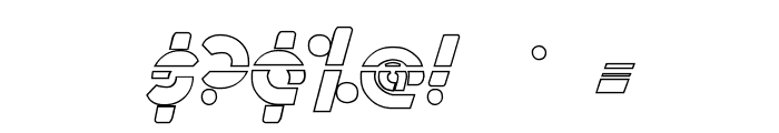Metroplex Outline Laser Font OTHER CHARS