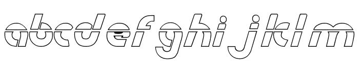 Metroplex Outline Laser Font UPPERCASE
