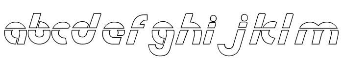Metroplex Outline Laser Font LOWERCASE