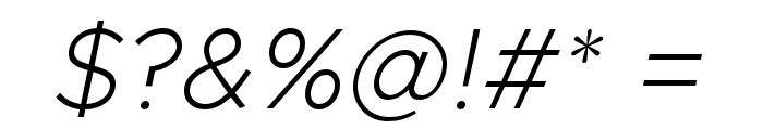 Metropolis Extra Light Italic Font OTHER CHARS