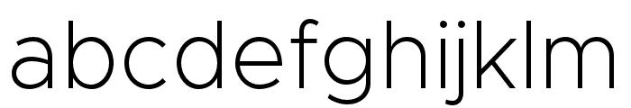 Metropolis-ExtraLight Font LOWERCASE