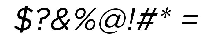 Metropolis Italic Font OTHER CHARS