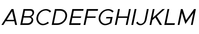 Metropolis Italic Font UPPERCASE