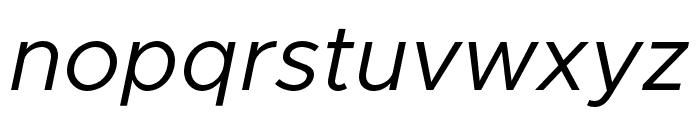 Metropolis Italic Font LOWERCASE
