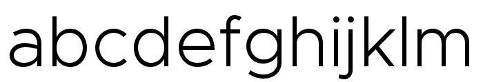 Metropolis-Light Font LOWERCASE