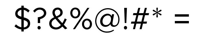 Metropolis-Regular Font OTHER CHARS