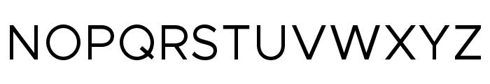 Metropolis-Regular Font UPPERCASE