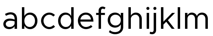 Metropolis-Regular Font LOWERCASE