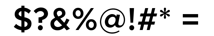 Metropolis-SemiBold Font OTHER CHARS