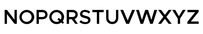 Metropolis-SemiBold Font UPPERCASE