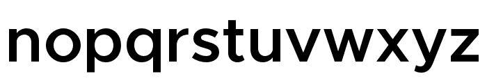 Metropolis-SemiBold Font LOWERCASE