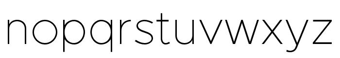 Metropolis-Thin Font LOWERCASE