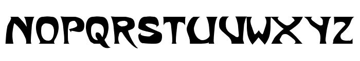 Metropolitain Font UPPERCASE