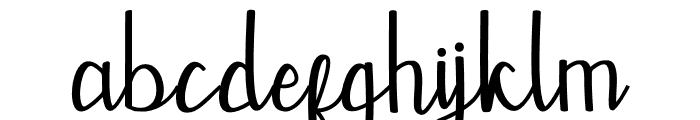 Mevally Font LOWERCASE