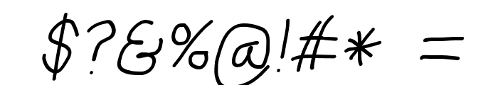 Mew? Italic Font OTHER CHARS