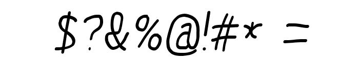 MewTooHand Bold Condensed Italic Font OTHER CHARS